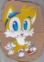 Tails painting x3 by Miiukka