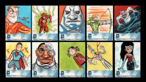 dc new 52 sketch cards by mikeorion22