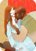 Othello and Desdemona by Nesgodraa