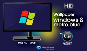 Windows 8 Metro Blue by CaHilART