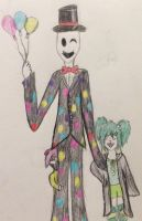 Two trickster proxies and their slender by WaterColoredAngel