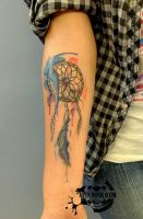 dream catcher watercolor effect by titanada