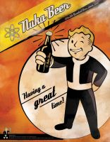 Vault Boy - Nuka Beer by Italiener