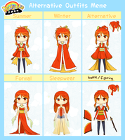 PKJP: Kayuri's Alt. Outfits by KT-Chewy