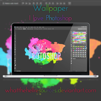 Wallpaper #8 - 'I Love Photoshop' by WhatTheHellResources