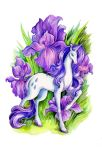 Flower Ponies - Rarity by TrollGirl