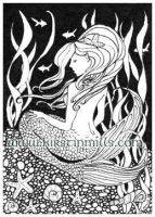 Mermaid ACEO by kirstinmills