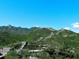 The Wall Twists Like A Snake Between Mountains by MyWorldTravelJournal