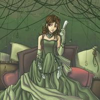 o003 Green Dress by anikakinka