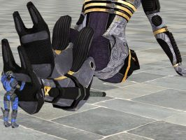 Garrus Rubs Tali's Feet #1 by aQuarianFetishist