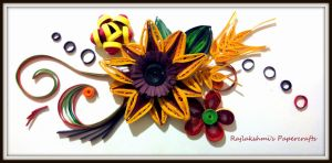 Handmade Quilling Card by Rajlakshmi