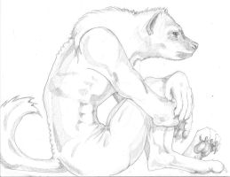 the thinker hyena by MechanicalHyena