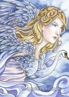 Swan Princess ACEO by MeredithDillman