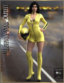 Highway Star Outfit and Accessories for Genesis 3 by emmaalvarez