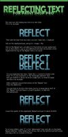 Reflecting Text Tutorial by 32iPX