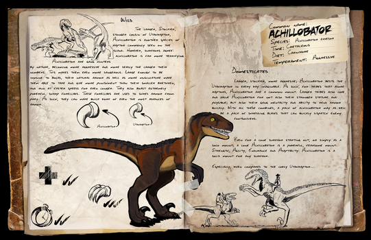 Ark- Additional Creatures - Achillobator Dossier by Crystaldemon93