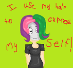 i use my hair to express myself! by PearsandMilk