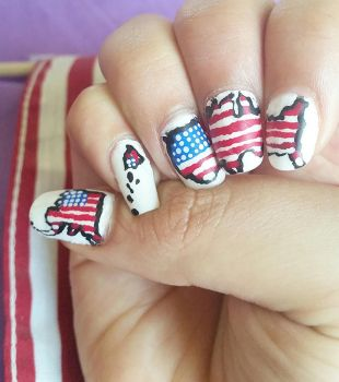 United States July 4th Nailart by DyeritsoJazzy