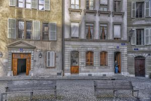 Geneva - morning in the old town by Rikitza