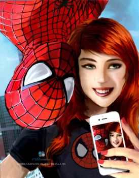Spidey and Mary Jane Selfie Part 1 of 4 Fan Art by rs2studios