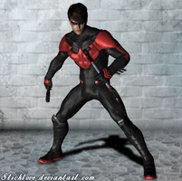 Batman Arkham Knight - Nightwing New 52 by Sticklove