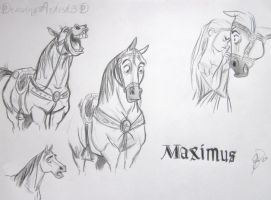 Maximus sketches by DrawingArtist3D