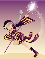 Sorceress in Motion by Hihoshi
