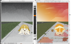 Lily WIP 6 and 7 sidebyside by Birds-Underwater