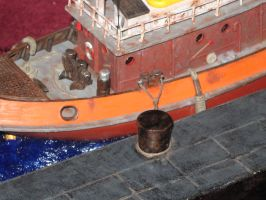 Client Order - British Tug Boat - Final Diorama by LacheV