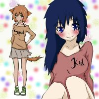 Shina and Chizu in Soul Eater forever best Freinds by ShinaOku