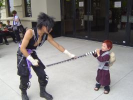 Sasuke vs Chibi Gaara 2 by EvolMaxiel