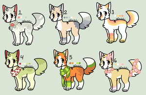 .:CLOSED:. 25 POINT PUPPY ADOPTABLES by SKlTTY