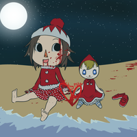 Aika Villager and Red Doll by TheJennyPill