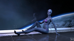 Liara In Front of Space: 2nd Shot by Grummel83