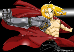 Edward Elric color by Fayeuh
