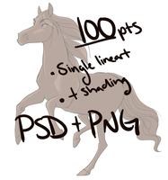 Purchasable Lineart | 100 points by Elesette