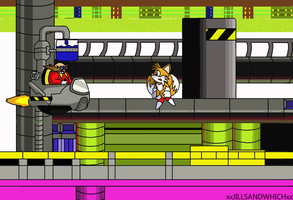 Tails VS Dr.Robotnik-Request- by xRubiMalonex