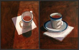 Still life of cups by Nathan-Pierce