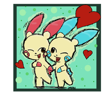 Plusle And Minun by Liyuku
