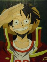 Monkey D. Luffy pirate captain by KezXxX
