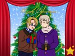 Hetalia: A RusAme Christmas! (for Hyperkaoru13) by NanaFay