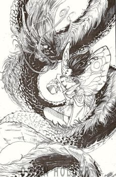 dragon and the butterfly by olodumare