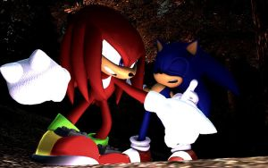 Sonic Vs Knuckles  You Been Punched by shadow759