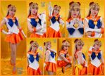 Super Sailor Venus Cosplay Collage by AmmieChan