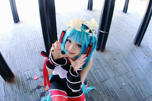 Two Breaths Walking Hatsune Miku Cosplay:Bless You by SpicaRy