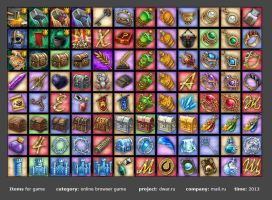 Icons for game. Items, weapon, farm, achievement by falinor4eg
