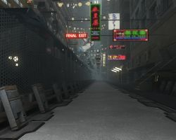 Sci fi Street WIP by spartanx118