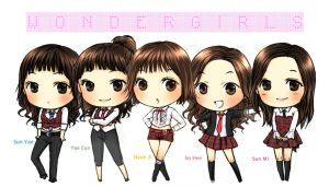 wonder girls by leehaneul