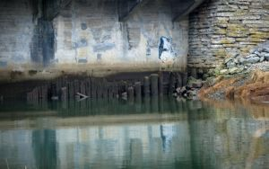 underpass creek by JensStockCollection