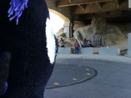 Nyx and The Fremont Troll by TaionaFan369